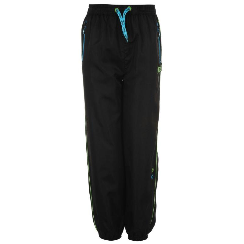 Tepláky Everlast Woven Pant Junior Boys CYAN- Black/Blu