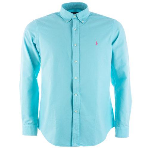 Košile Ralph Lauren Mens Long Sleeve Oxford Shirt Blue
