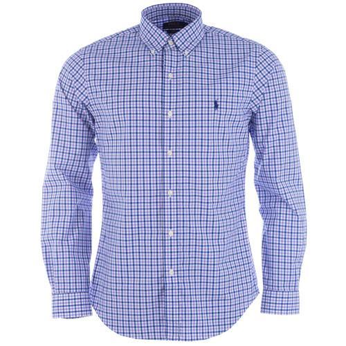 Košile Ralph Lauren Mens Long Sleeve Check Shirt Purple