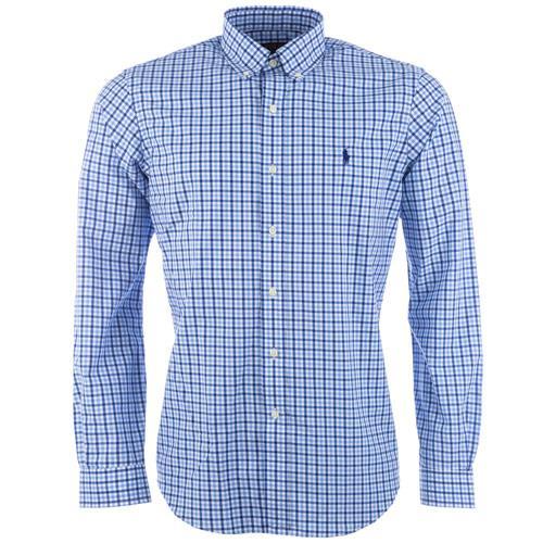 Košile Ralph Lauren Mens Long Sleeve Check Shirt Blue