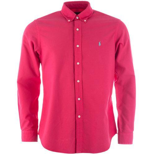 Košile Ralph Lauren Mens Long Sleeve Oxford Shirt Rose
