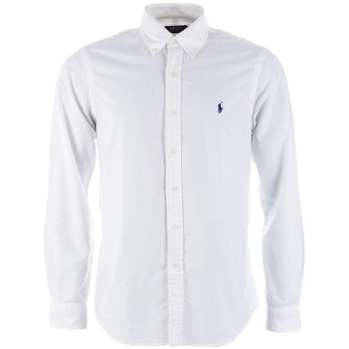 Košile Ralph Lauren Mens Long Sleeve Oxford Shirt White