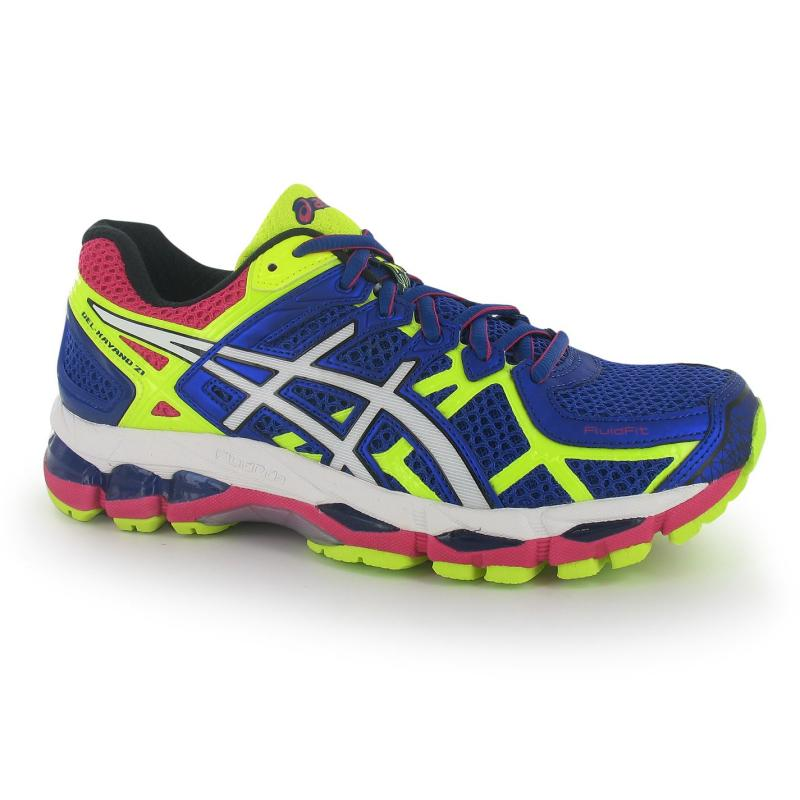 Boty Asics Gel Kayano 21 Ladies Running Shoes Blue/White/Yell, Velikost: UK3 (euro 36)
