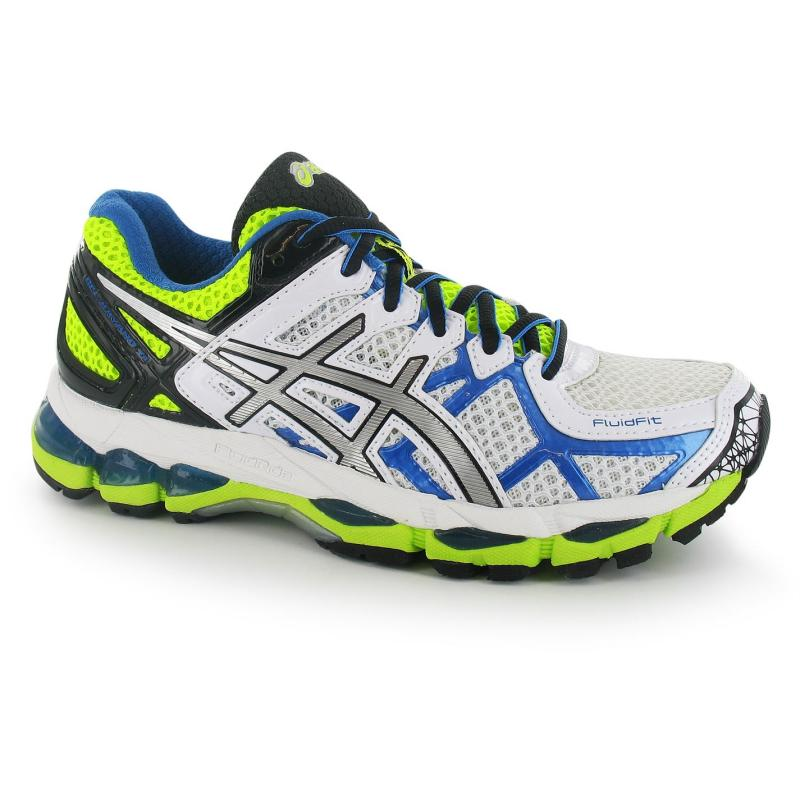 Boty Asics Gel Kayano 21 Ladies Running Shoes White/Blue/Yell, Velikost: UK3 (euro 36)