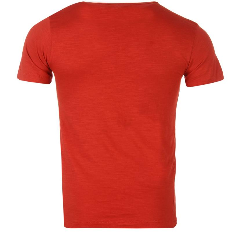 Tričko Replay Beachwear T Shirt Red, Velikost: XL