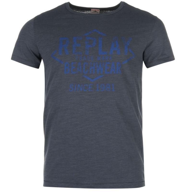 Tričko Replay Beachwear T Shirt Grey