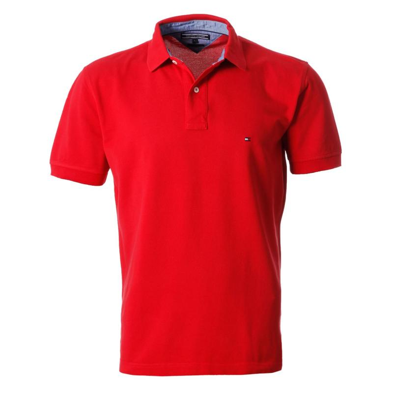 Tommy Hilfiger Tommy New Polo Shirt Apple Red, Velikost: L