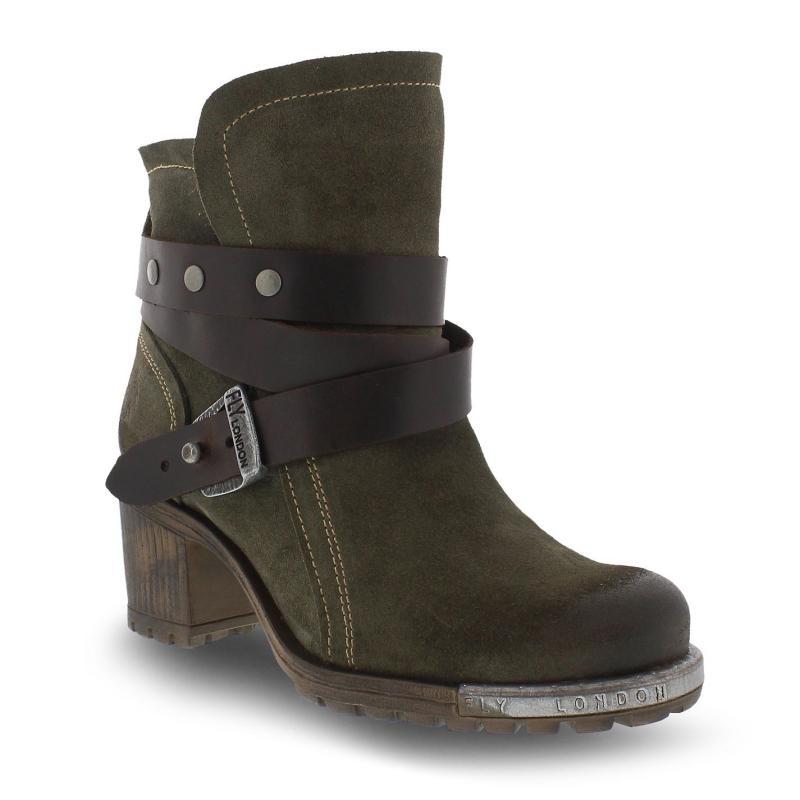 Boty Fly London Lok Ankle Boots Sludge/Dk Brn