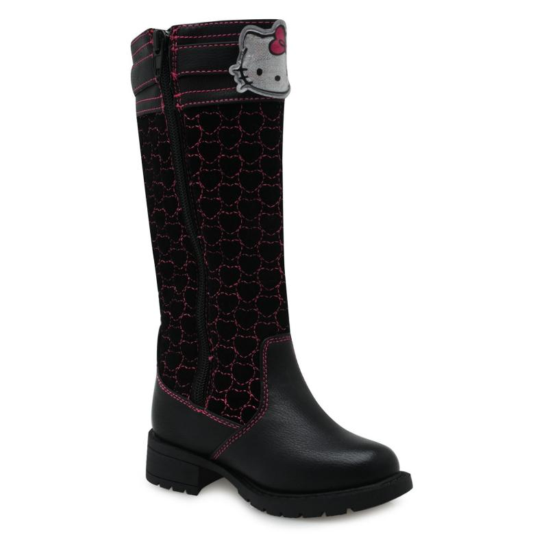 Hello Kitty Kitty Knee Boot Childrens Black