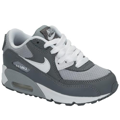 Boty Nike Children Boys Air Max 90 Trainers Grey