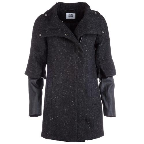 Bunda Vero Moda Womens Carli 3/4 Coat Black