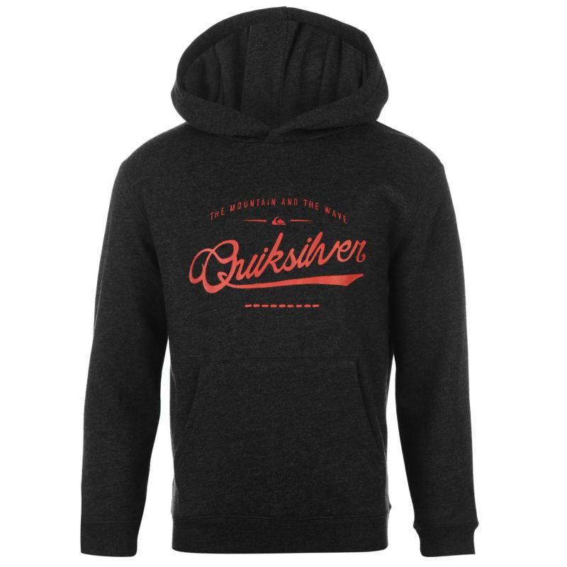 Mikina Quiksilver Crime Wave Ribbed Hoody Blue