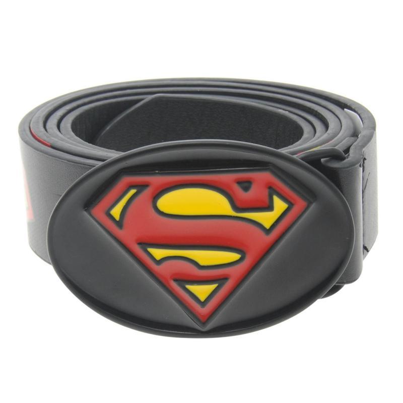 DC Comics Superman Print Belt Mens Blk/Red/Yellow