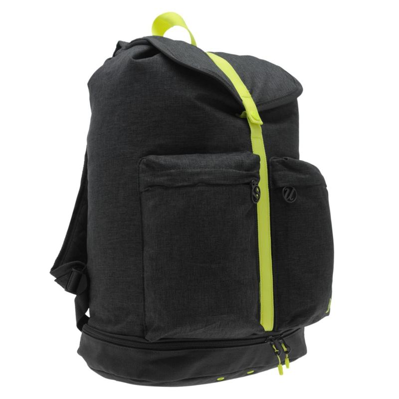 USA Pro Gym Duffle Bag Charcoal/Lime