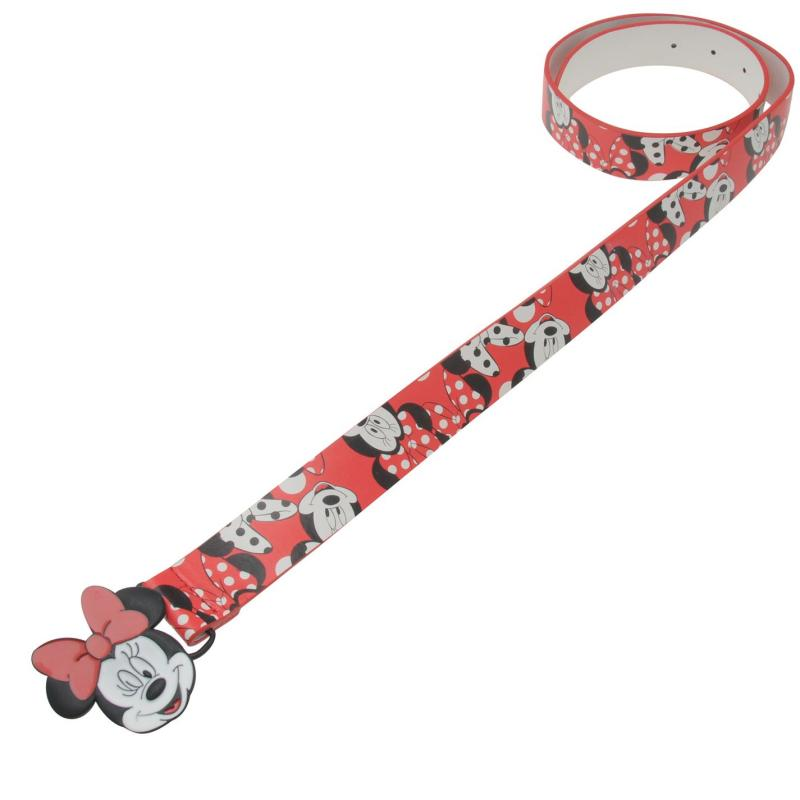 Disney Disney Minnie Buckle Belt Girls Belt Red/White
