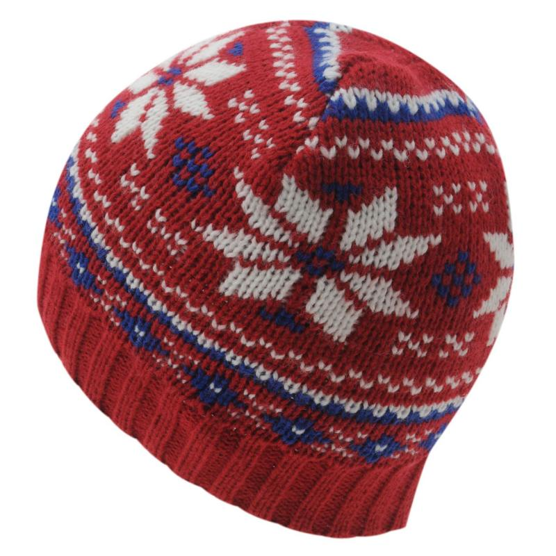 No Fear Faire Isle Hat Mens Red