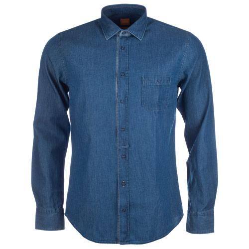 Košile Hugo Boss Mens Eslimye Shirt Denim