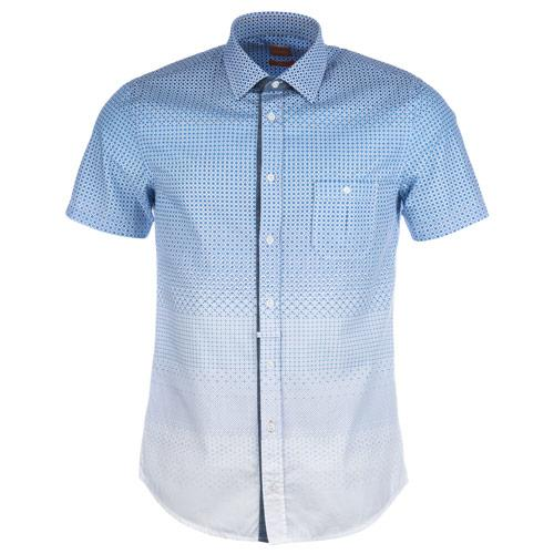 Košile Hugo Boss Mens Eslimye Shirt Blue