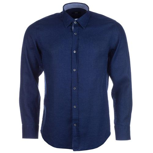Košile Hugo Boss Mens Lucas 11 Shirt Dark Blue