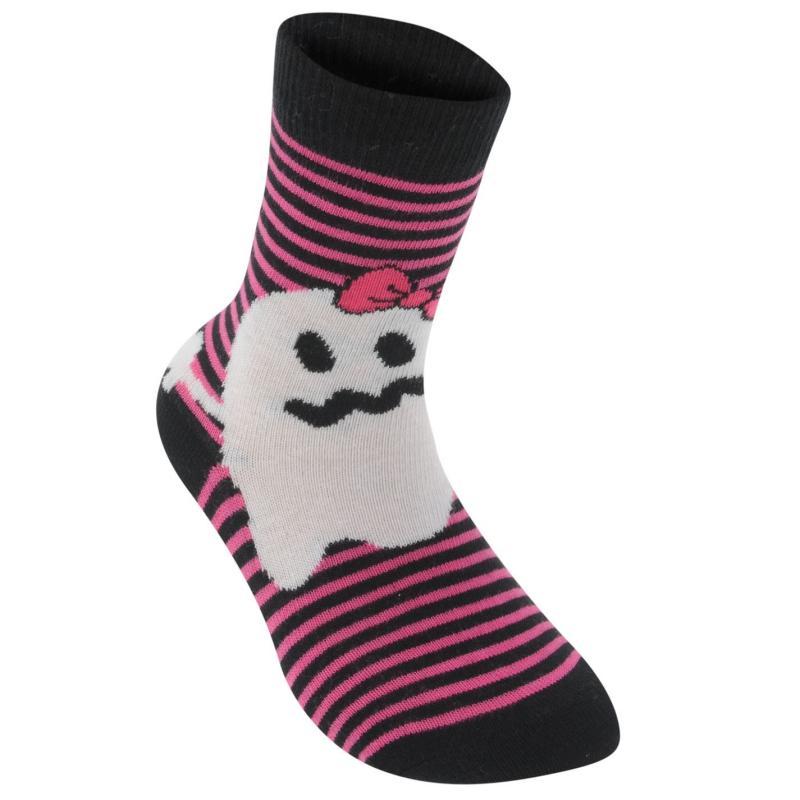 Miss Fiori Ghost Dress Socks Childs Black/Pink/Wh, Velikost: 3-6 (EUR 36-39)