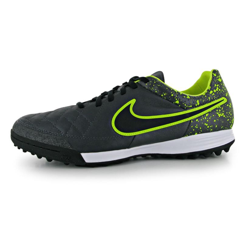 Nike Tiempo Legacy Mens Astro Turf Trainers Black/Volt, Velikost: UK7 (euro 41)