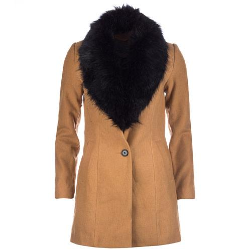 Bunda Vero Moda Womens Cilla Daisy 3/4 Coat Brown