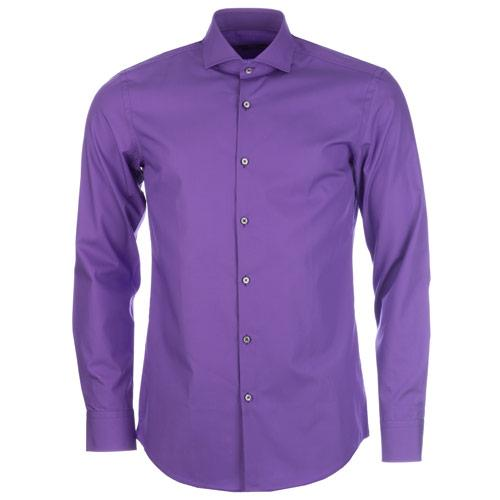 Košile Hugo Boss Mens Jaser Shirt Purple