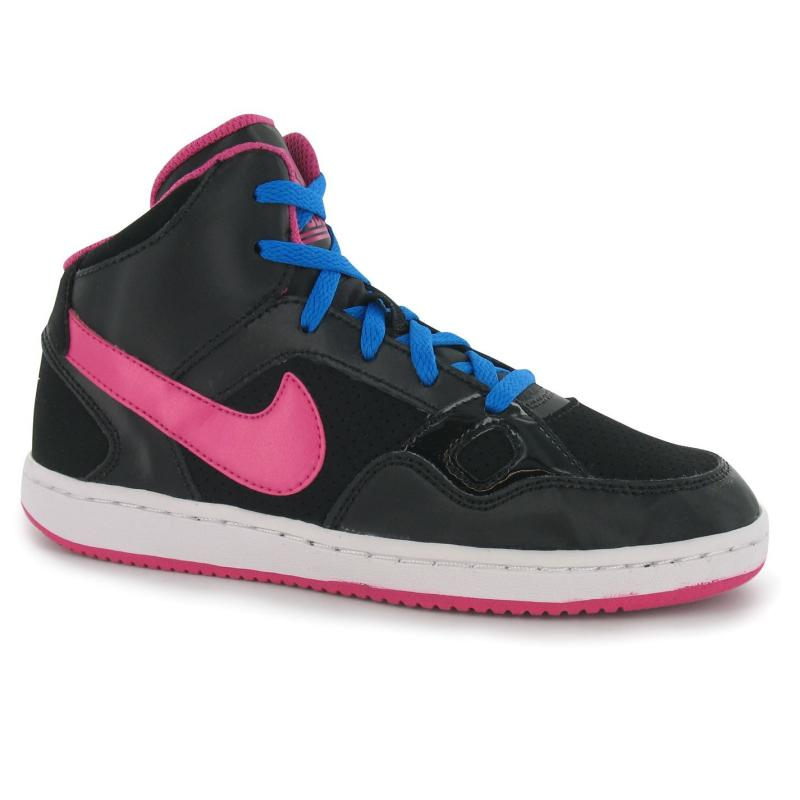 Nike Son of Force Mid Top Children Girls Trainers Black/Pink
