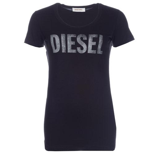 Diesel Womens T-Juanin T-Shirt Black