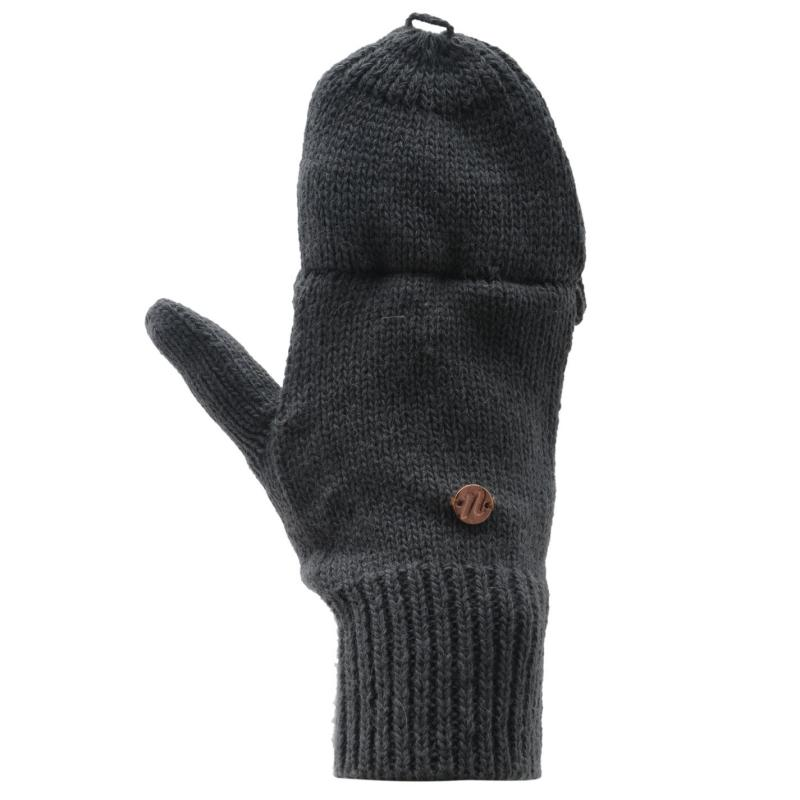 USA Pro Mittens Ladies Charcoal Marl