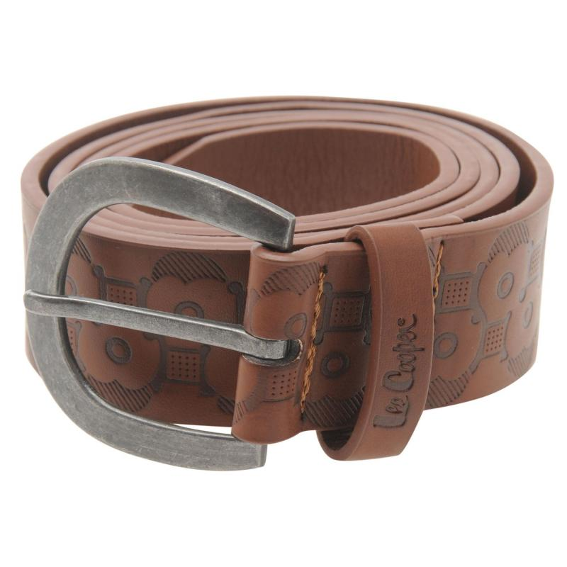 Lee Cooper Floral Belt Ladies Tan