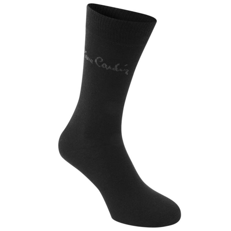 Ponožky Pierre Cardin 3 Pack Mens Socks Black