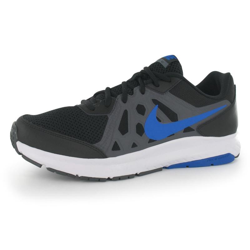 Nike Dart 11 Mens Running Shoes Black/Blue/Grey, Velikost: UK11 (euro 46)