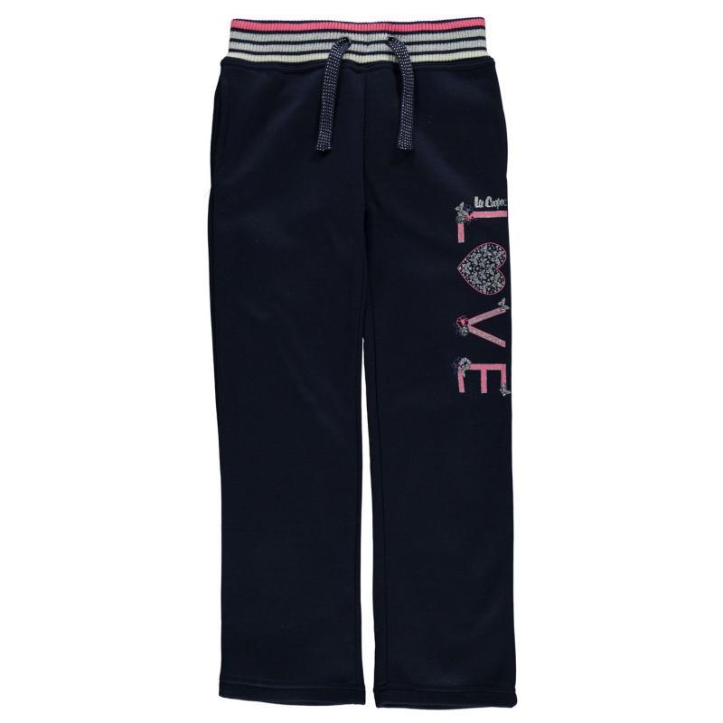 Lee Cooper Glitzy Closed Hem Pants Junior Girls Grey Marl