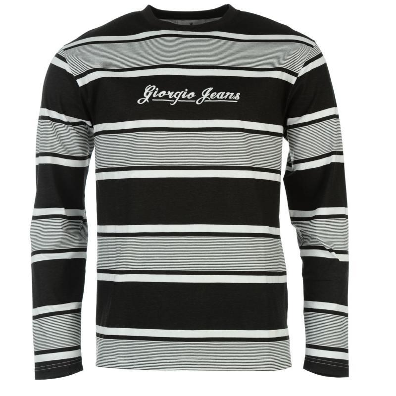 Giorgio Retro LS Tee Sn61 Black/White
