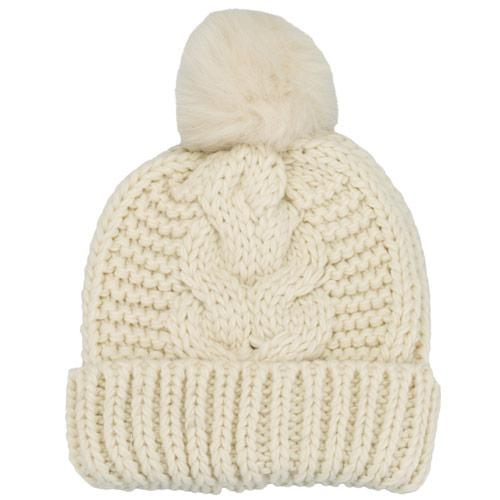 Vero Moda Womens Hege Bobble Knit Hat White