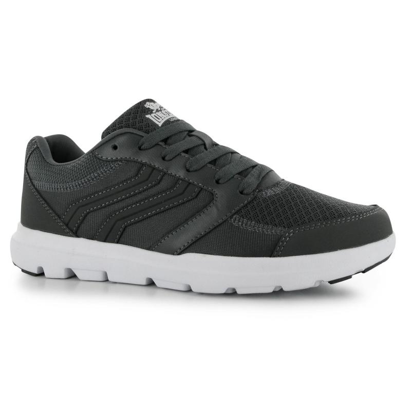 Boty Lonsdale Xenon Mens Trainers Charcoal, Velikost: UK9 (euro 43)