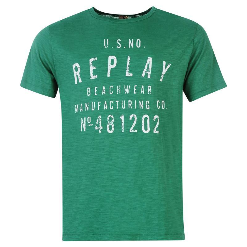 Tričko Replay Beachwear T Shirt Mens Taxi
