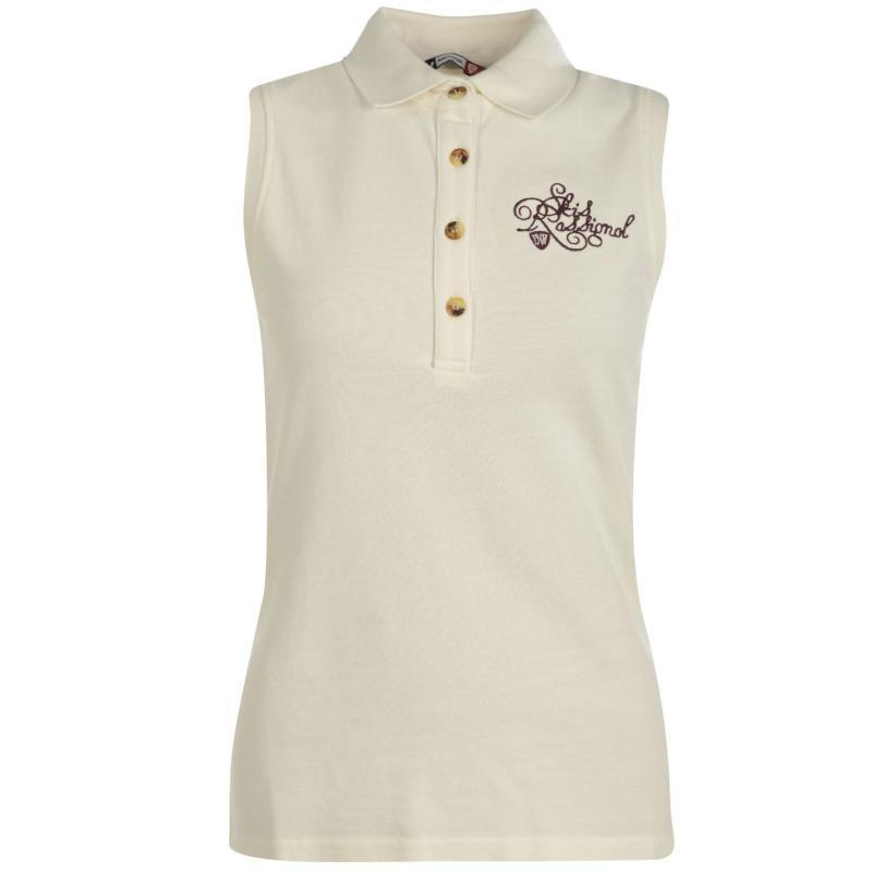 Polokošile Rossignol Mir Sleeveless Polo Shirt Ladies Off White, Velikost: 12 (M)