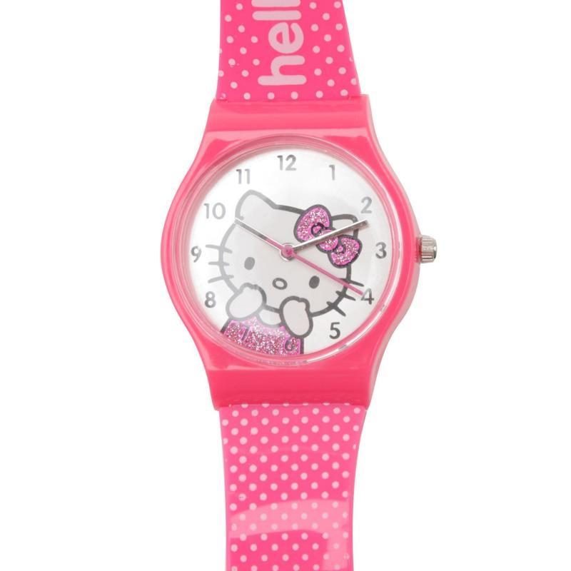 Hello Kitty Girls Analogue Watch White/Pink Spot, Velikost: ostatní