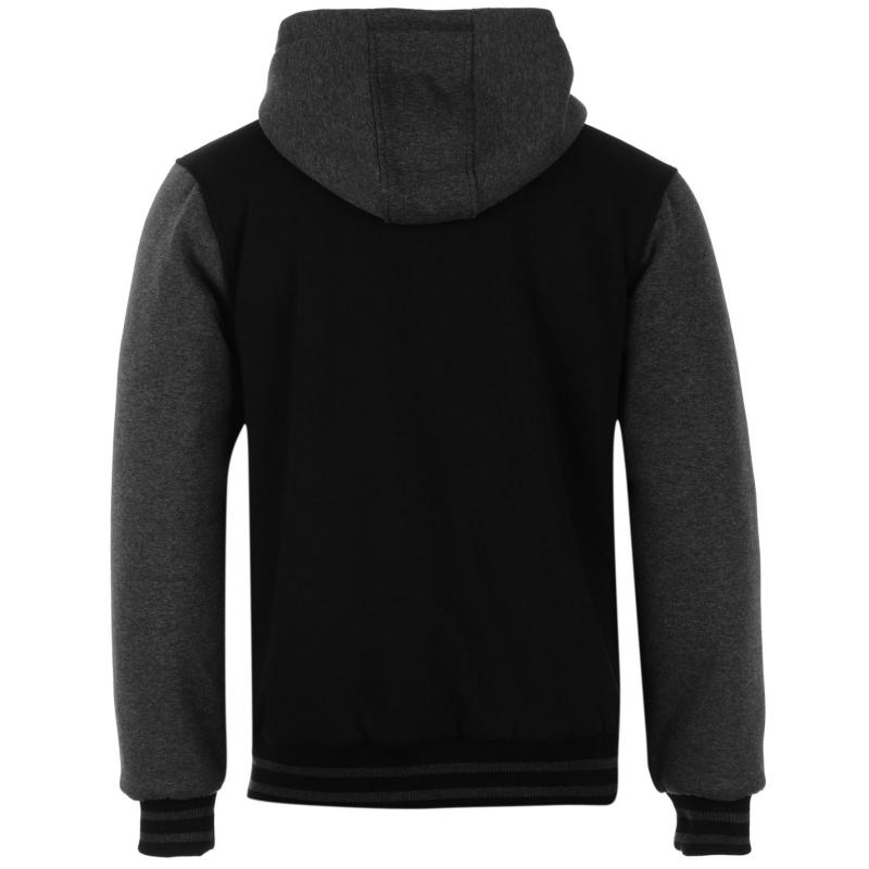 Bunda Jilted Generation Varsity Jacket Mens Black/Charcoal