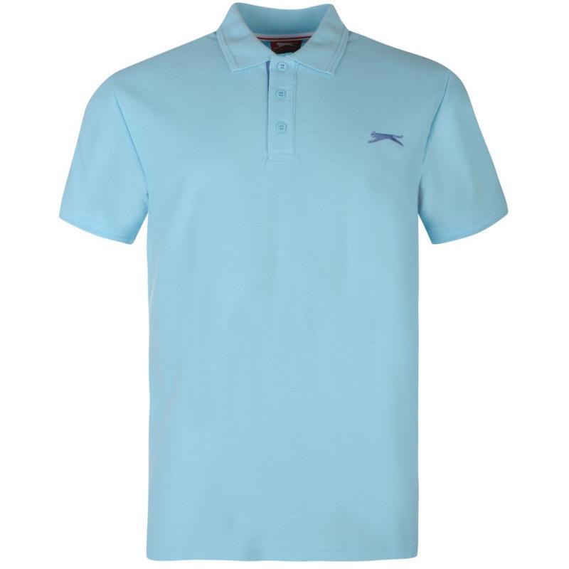 Slazenger Plain Polo Shirt Mens Sky Blue