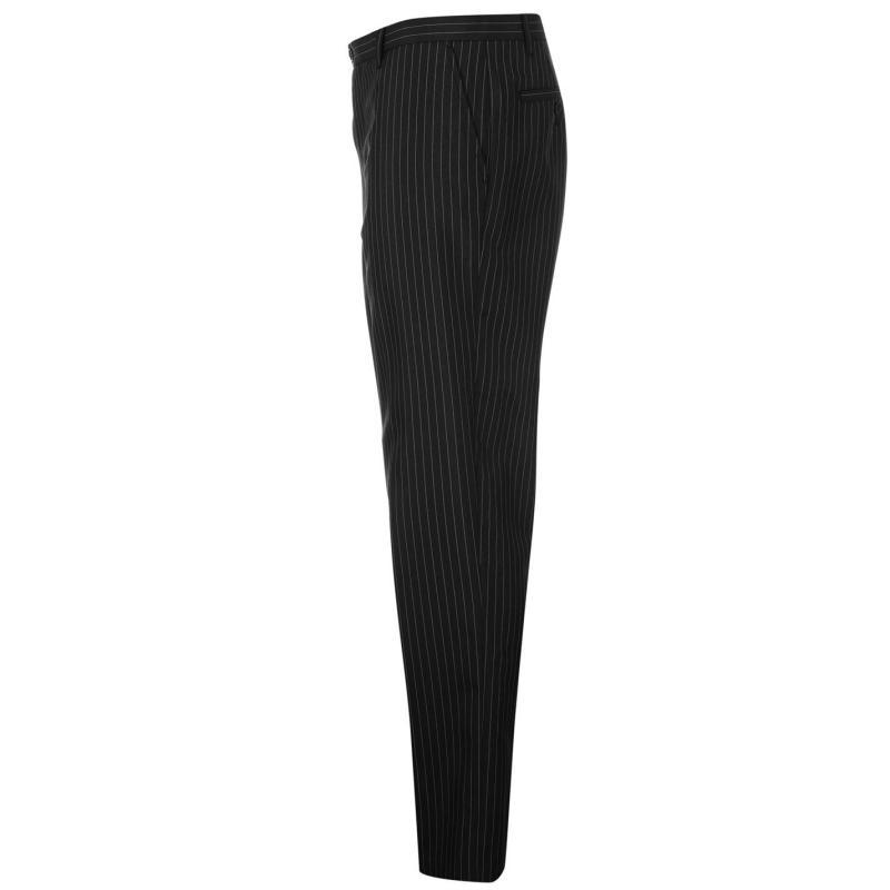 Kalhoty Pierre Cardin Check Mens Trousers Black Stripe