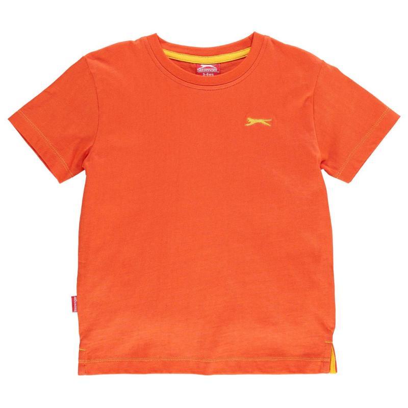 Tričko Slazenger Plain T Shirt Infant Boys Orange