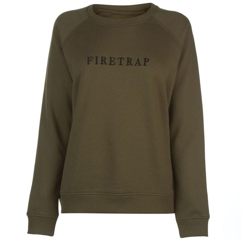 Mikina Firetrap Luxe Crew Sweater White