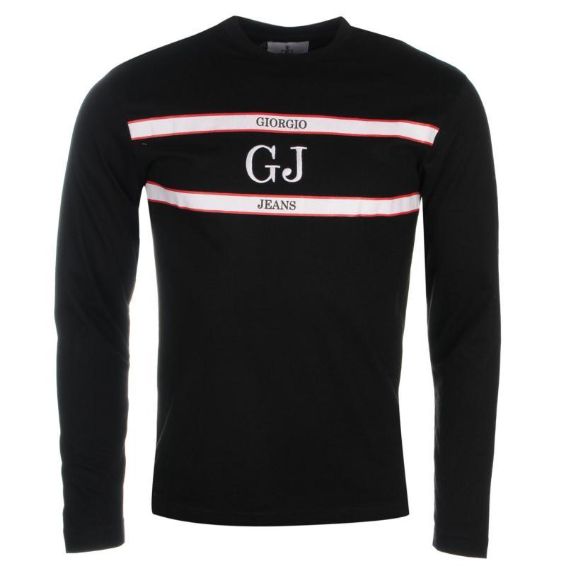 Giorgio Retro Long Sleeve TShirt Mens Black