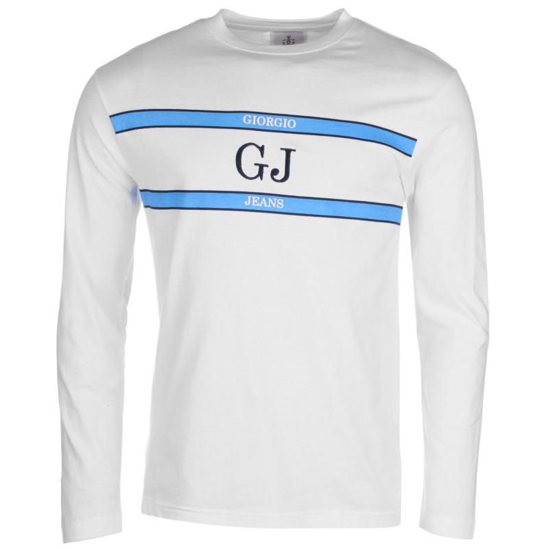 Giorgio Retro Long Sleeve TShirt Mens White