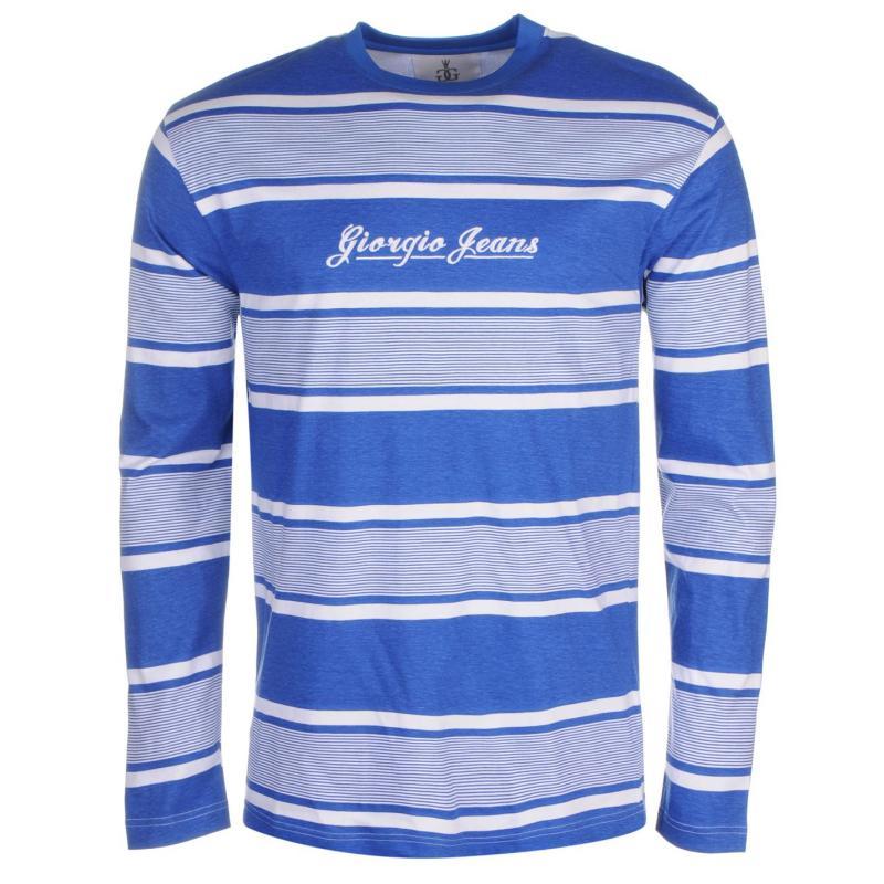 Giorgio Retro LS Tee Sn61 Blue/White