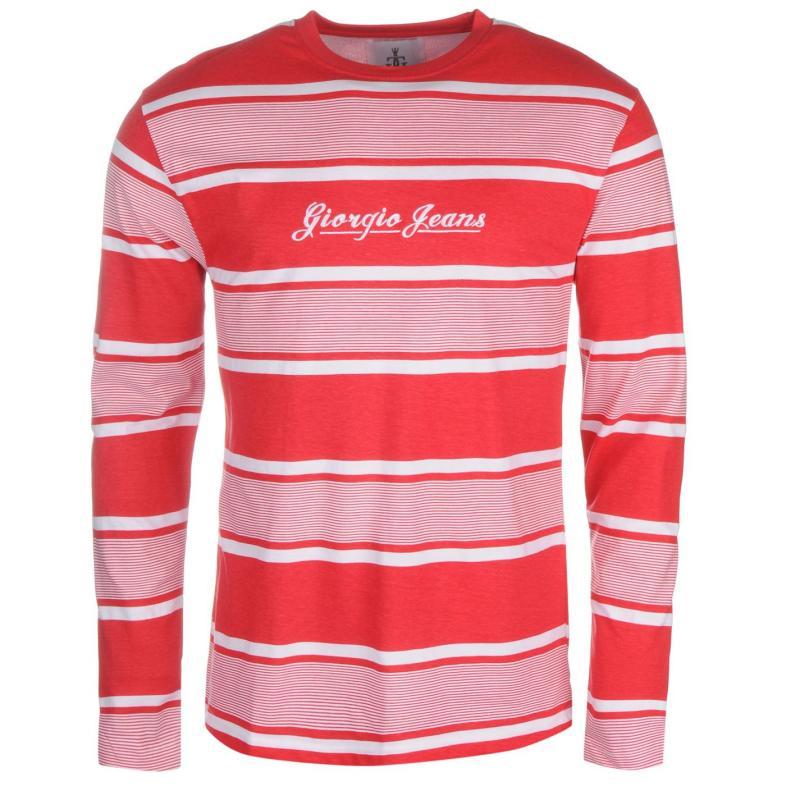 Giorgio Retro LS Tee Sn61 Red/White