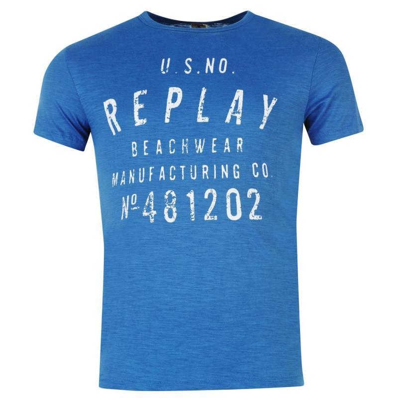 Tričko Replay Beachwear T Shirt Mens Dakar, Velikost: S